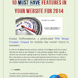 10 Must have Features in Your Website for 2014