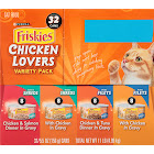 Purina Friskies Cat Food, Chicken Lovers Variety Pack - 32 cans, 5.5 oz each