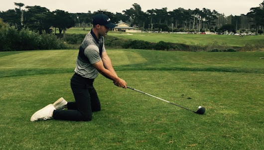 Why hitting drivers off your knees is the best drill for your swing