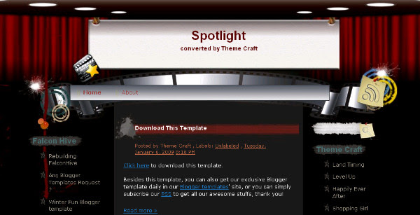 Free Movie Blogger Template