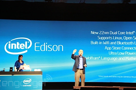 Intel announces Edison: a 22nm dual-core PC the size of an SD card