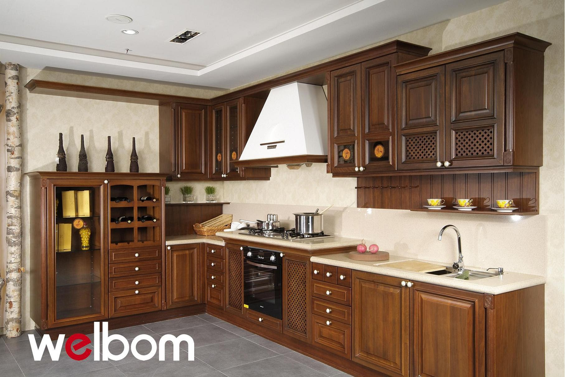 Walnut Kitchen Cabinets Made of Wood
