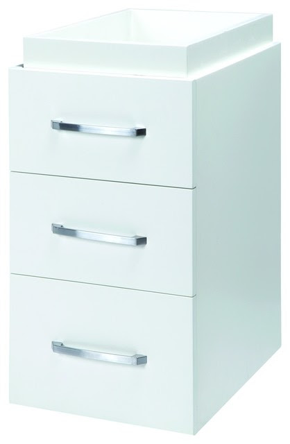 Decolav 5225-WHT Cameron Drawer Console Cabinet in White ...