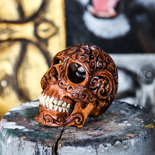 Hand Carved Human Skull