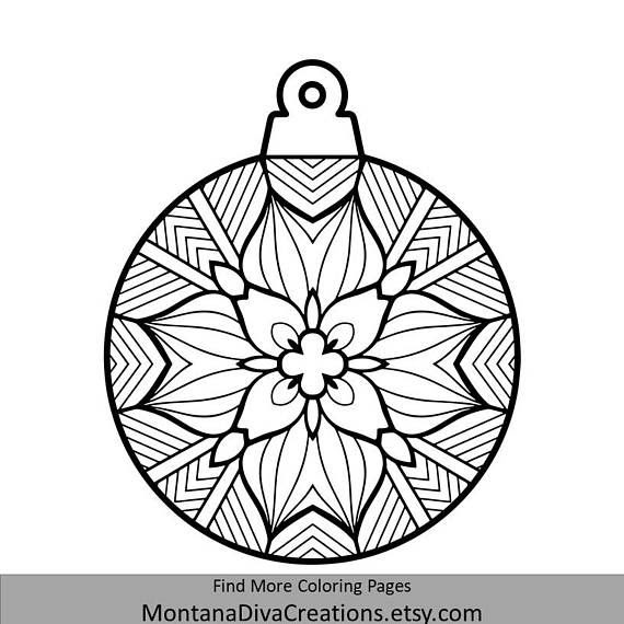Christmas Mandala Coloring Pages Printable - Coloring ...