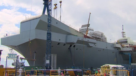 Queen to name UK's biggest warship