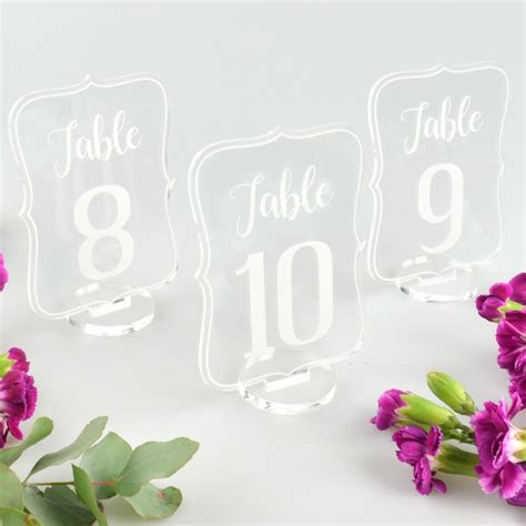 personalised favours wedding reception table numbers