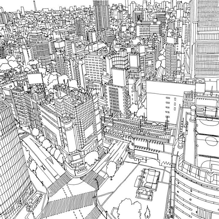 Fantastik şehirler Boyama Kitabı Türkiyede Yayında