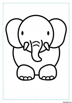 print out animal elephant coloring pages  free printable coloring pages for kids