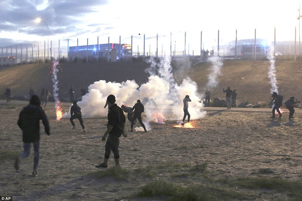 French authorities are removing the Jungle camp dispersing migrants across the country