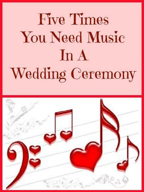 The 5 main times you'll probably want music in a wedding