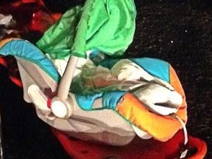 Bebê de apenas dois dias morreu durante colisão na BR-343 (Foto: Renan Brito)