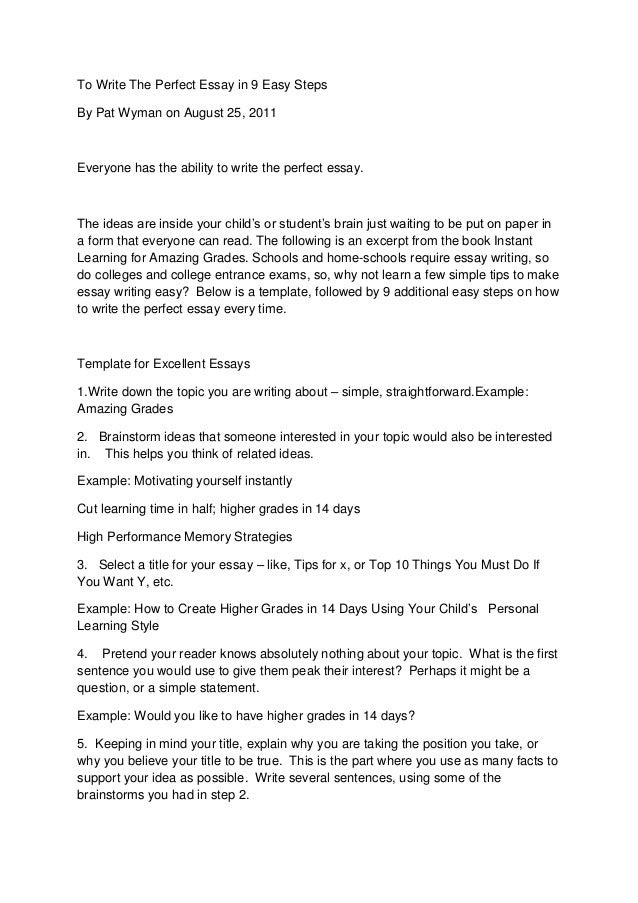 how to write the perfect history essay