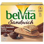 belVita Dark Chocolate Crème Breakfast Biscuits - 5ct