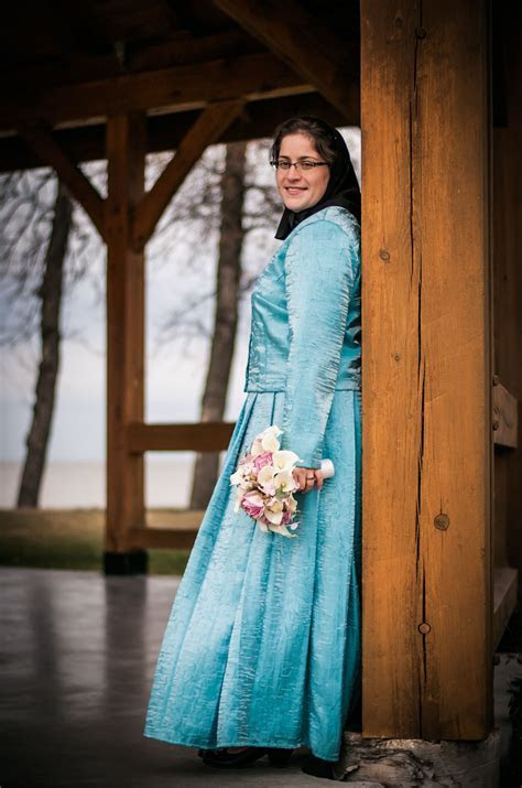 Hutterite wedding dress. Our dresses are traditionally