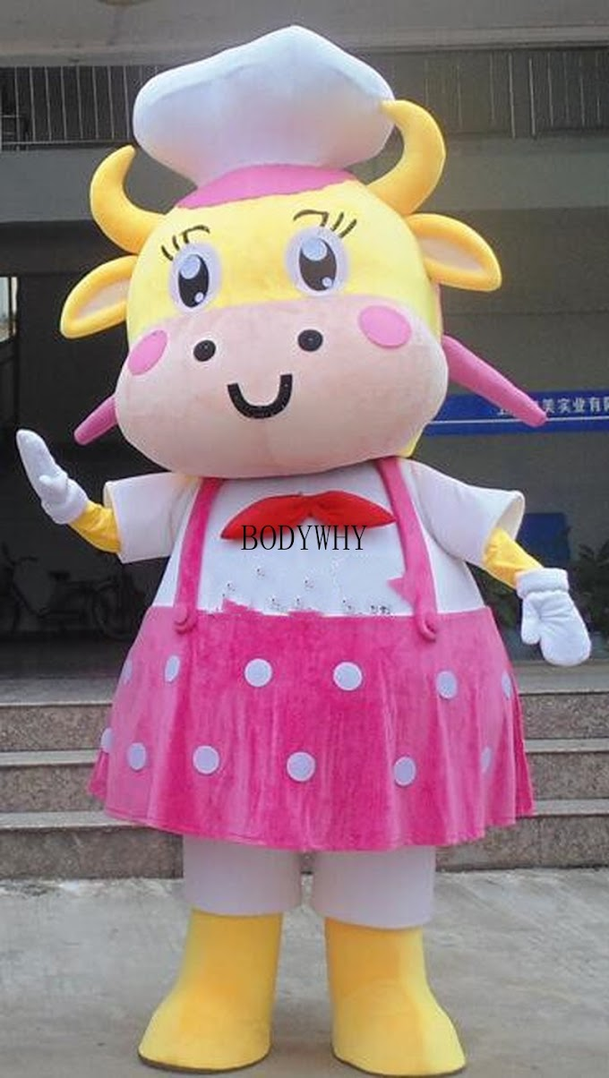 Best Seller Cute Cow Mascot Costume Suits Cosplay Party Game Dress Outfits Clothing Advertising Promotion Carnival Halloween Xmas Easter