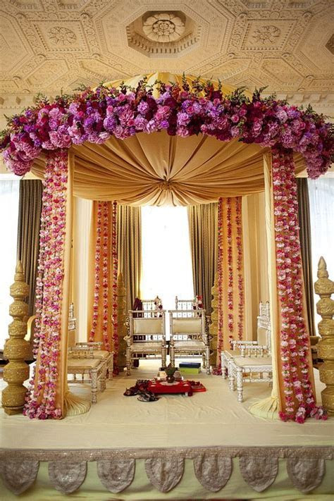 Indian Wedding Decorations  Elegant Regal Mandap!   Floral