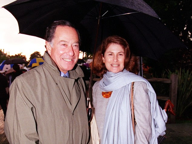 Neither the 80-year-old property tycoon Sir John Ritblat (left, in 1999), nor his wife Jill (right), are believed to have been at home during the raid, which took place at 9pm on October 23