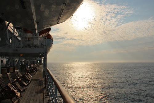 Just after Sunrise on the QM2