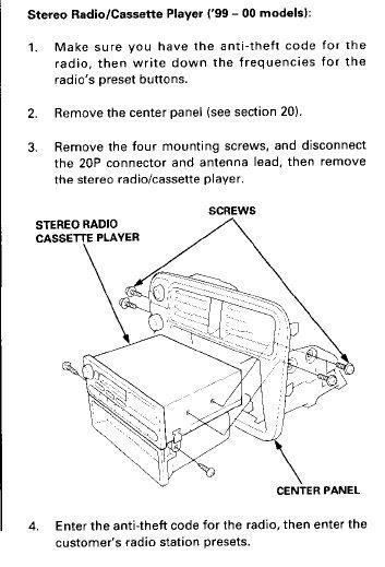 99-00 Civic OEM radio wiring diagram - Honda-Tech