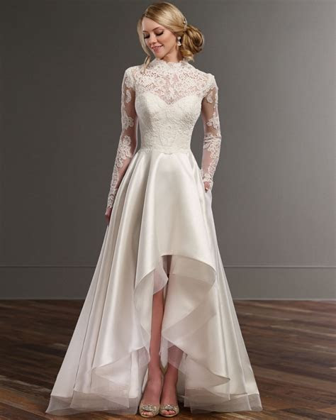 Vestido De Noiva Bridal Gown Lace High Neck Long Sleeve
