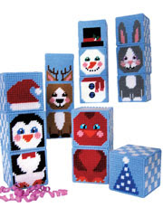 Winter Buddy Mix/Match Blocks Plastic Canvas Pattern Pack - Electronic Download