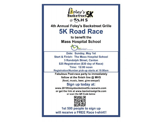 Fourth Annual Foley's 5K to Benefit Canton's Mass Hospital School | Patch
