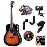 Yamaha FG730S Tobacco Brown Sunburst Acoustic Guitar Bundle w/Legacy Acc Kit (Tuner, DVD andMuch More)