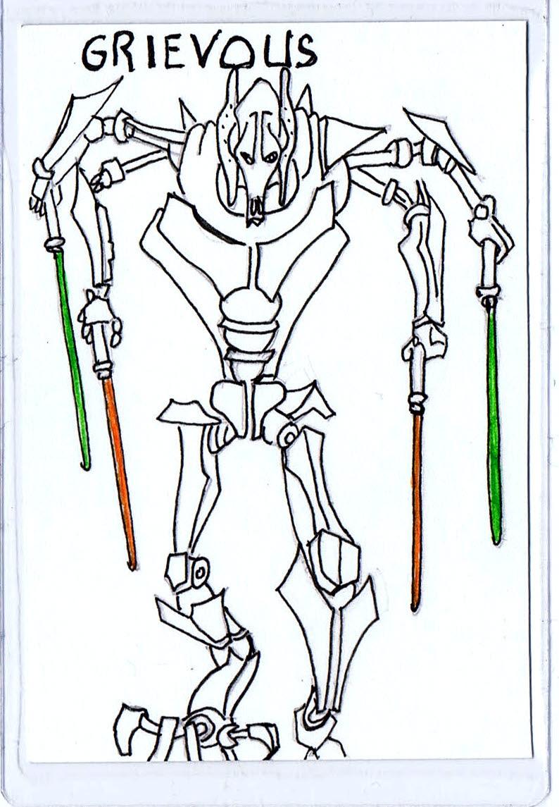 Grievous Trading Card 1