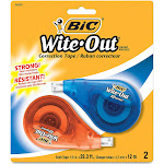 Wite-Out EZ Correct - Correction tape - 0.165 in x 39.4 ft - assorted (pack of 2)