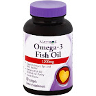 Natrol Omega-3 Fish Oil, 1200 mg, Lemon Flavor, Softgels - 60 softgels