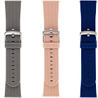 WITHit - Band Kit for Fitbit Versa and Versa 2 (3-Pack) - Navy/Light Gray/Blush Pink