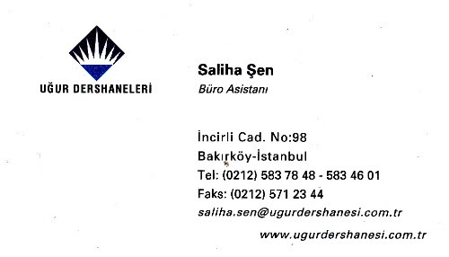 Saliha Şen Büro Asistanı