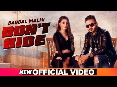 Dont Hide Lyrics - Babal Malhi