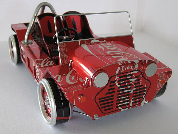 Coke can car