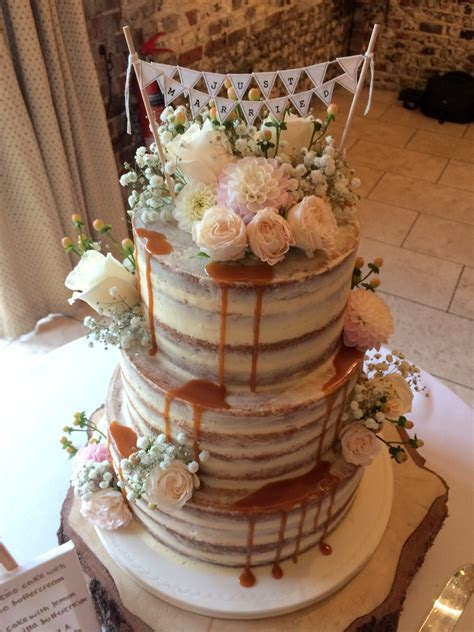Naked Wedding Cakes   Raspberry Ribbon Cakes