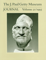 The J. Paul Getty Museum Journal: Volume 21/1993