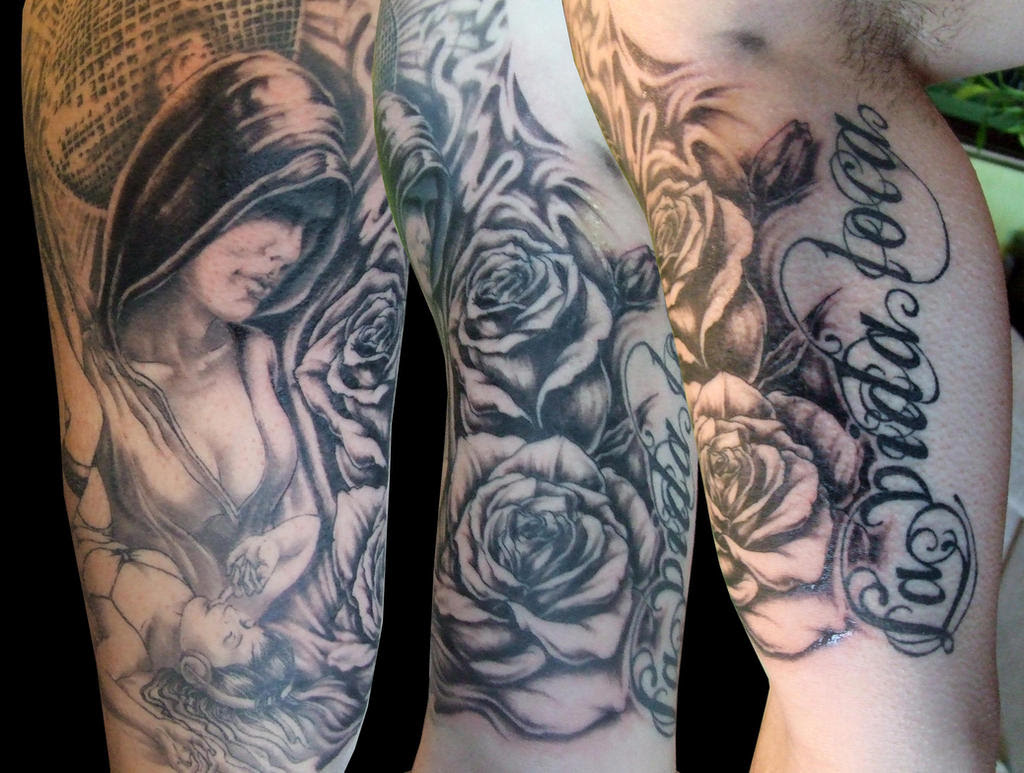 Pin Up Girl Tattoos Half Sleeve Information Keywords And Pictures