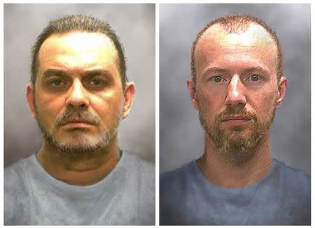 Prison inmates Richard Matt and David Sweat are seen in enhanced pictures released by the New York State police