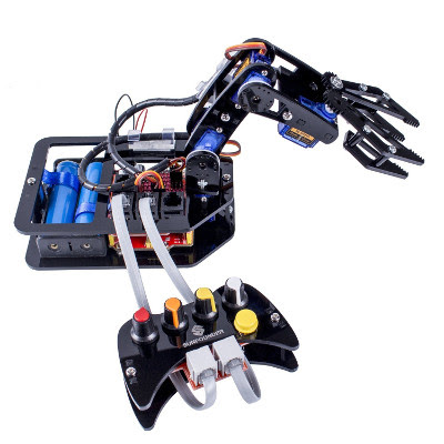 SunFounder DIY Robotic Arm kit 4-Axis Servo Control Rollarm with Wired Controller for Arduino Uno R3: information about the product