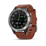 Garmin D2 Delta Aviator Watch with Brown Leather Band (47MM Case) by PilotMall.com
