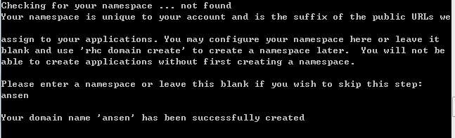 creat namespace