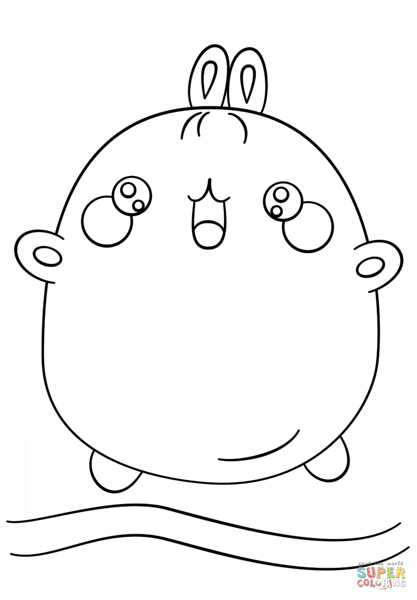 kawaii molang coloring page