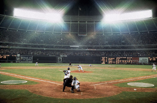 "siphotos:<br /><br />Hank Aaron took over as baseball's all-time home run king with No. 715 off the Dodgers' Al Downing on April 8, 1974. The game was delayed 11 minutes for a celebration. ""Hammerin' Hank"" turns 80 today.  (Tony Triolo/SI)<br />GALLERY: Hank Aaron Retrospective<br />"