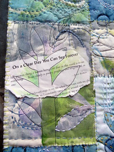 on a clear day ~ art quilt