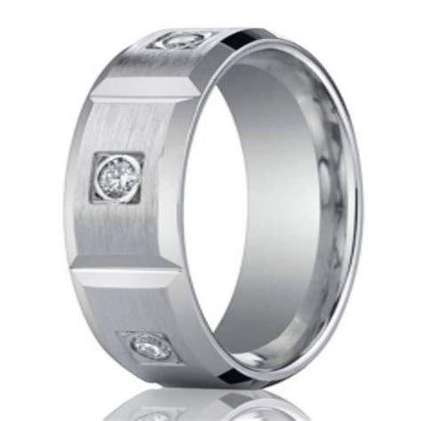 8mm Contemporary Diamond Eternity White Gold Wedding Band