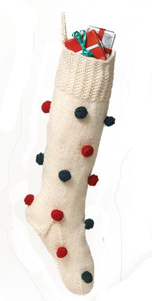 Decorated Christmas Stocking Pattern (Knit)