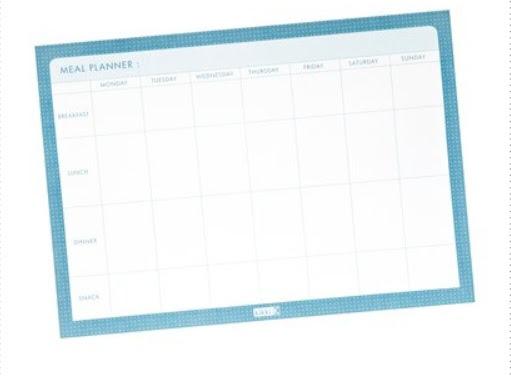 Weekly Menu Planner   The Lifestylers Group