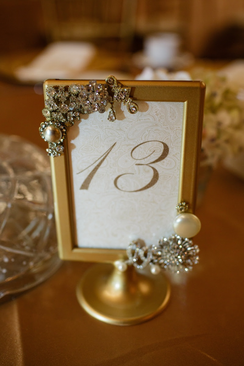 Vintage Brooch Gold Frame Table Number An Affair To Remember