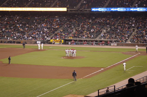 Giants V. Phillies: Meeting on the Mound